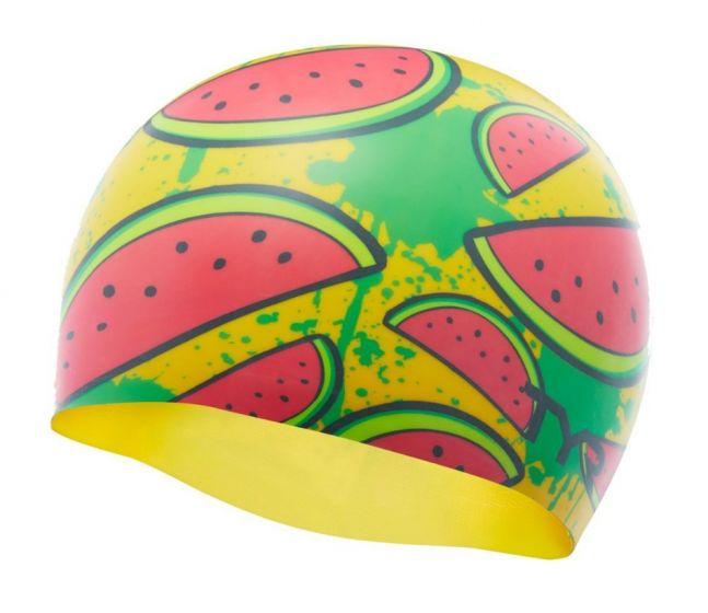 TYR Watermelon Silicone Swimming Cap