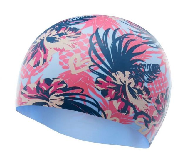 TYR Pineapple Punch Silicone Swimming Cap