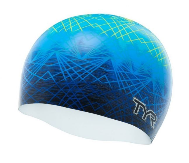 TYR Slow Fade Silicone Swimming Cap