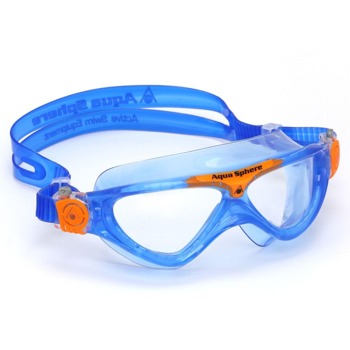 Aqua sphere vista junior clear lens swimming goggles swimspace for Aqua vista swimming pool aurora co