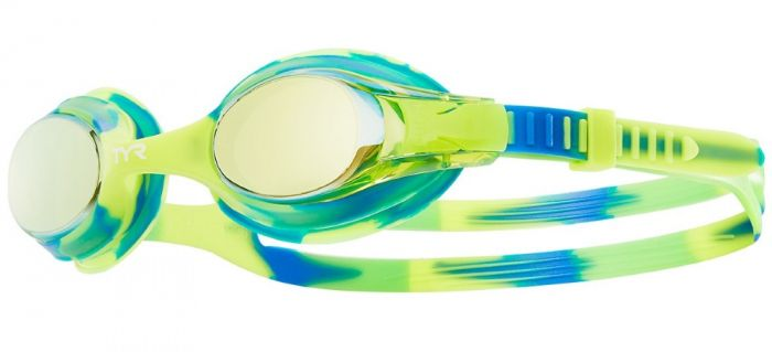 TYR Swimple Tie Dye Mirrored Kids Swimming Goggles