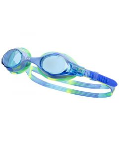 TYR Swimple Tie Dye Clear Lens Kids Goggles